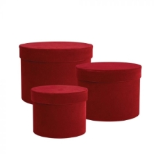 Velvet Symphony Hat Box Set of 3 (Red)   DAMAGED