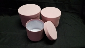 Velvet Symphony Hat Box Set of 3 (Light Pink)